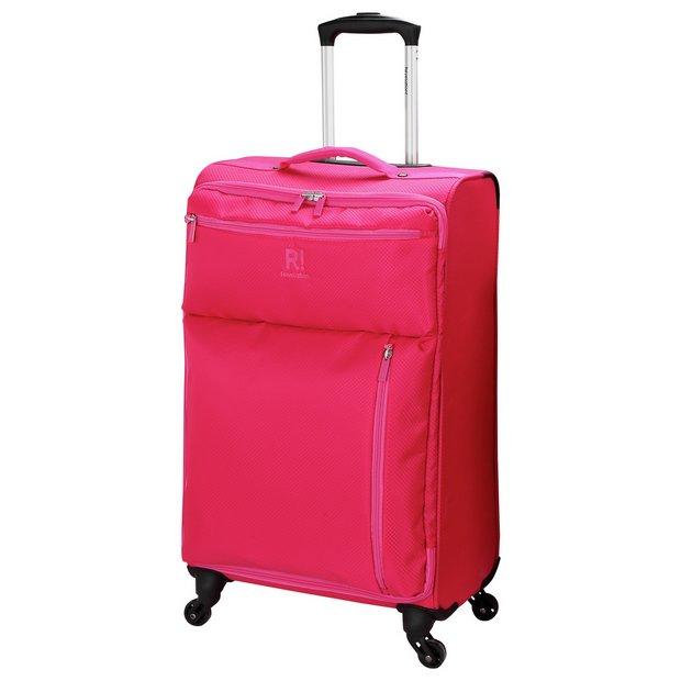 Buy Revelation! Weightless Large 4 Wheel Soft Suitcase - Pink at ...