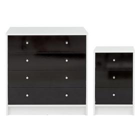 Argos Home Malibu Gloss Bedside Table & 4 Drawer Chest Set