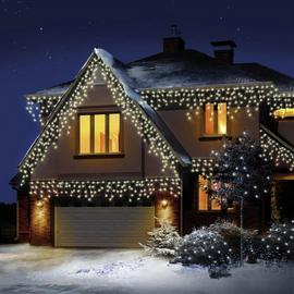 Premier Decorations 720 LED Snowing Icicles - Warm White