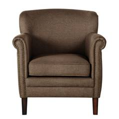 Argos Home Bella Fabric Chair - Light Brown