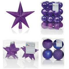 premier decorations 35 piece luxury decoration set purple