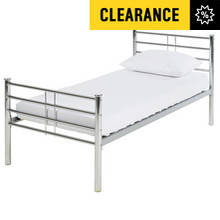 Argos Home Kaira Single Bed Frame - Chrome