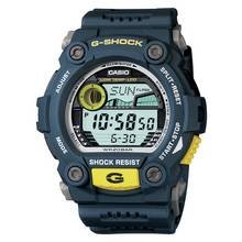 Casio G-Shock Illuminator Blue and Yellow Watch