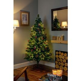 Premier Decorations 4ft White LED Snow Tipped Tree - Green