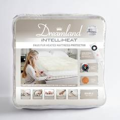 Dreamland Intelliheat Faux Fur Mattress Protector - Double