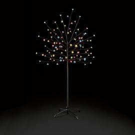 Premier Decorations 5ft Pre-Lit Multi LED Cherry Tree -Black
