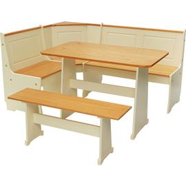 Argos Home Haversham Solid Pine Corner Dining Set & Bench