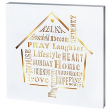 Premier Decorations Homely Words Led Wall Art