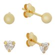 more details on Miss Glitter 9ct Gold Plated Silver Studs - Set of 2.