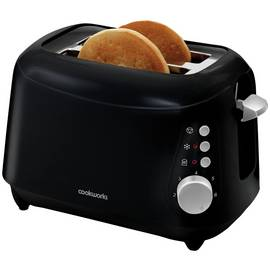 Cookworks 2 Slice Toaster - Black