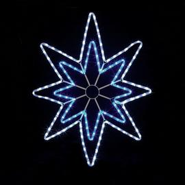 Premier Decorations 95cm LED Star Rope Light - Blue & White