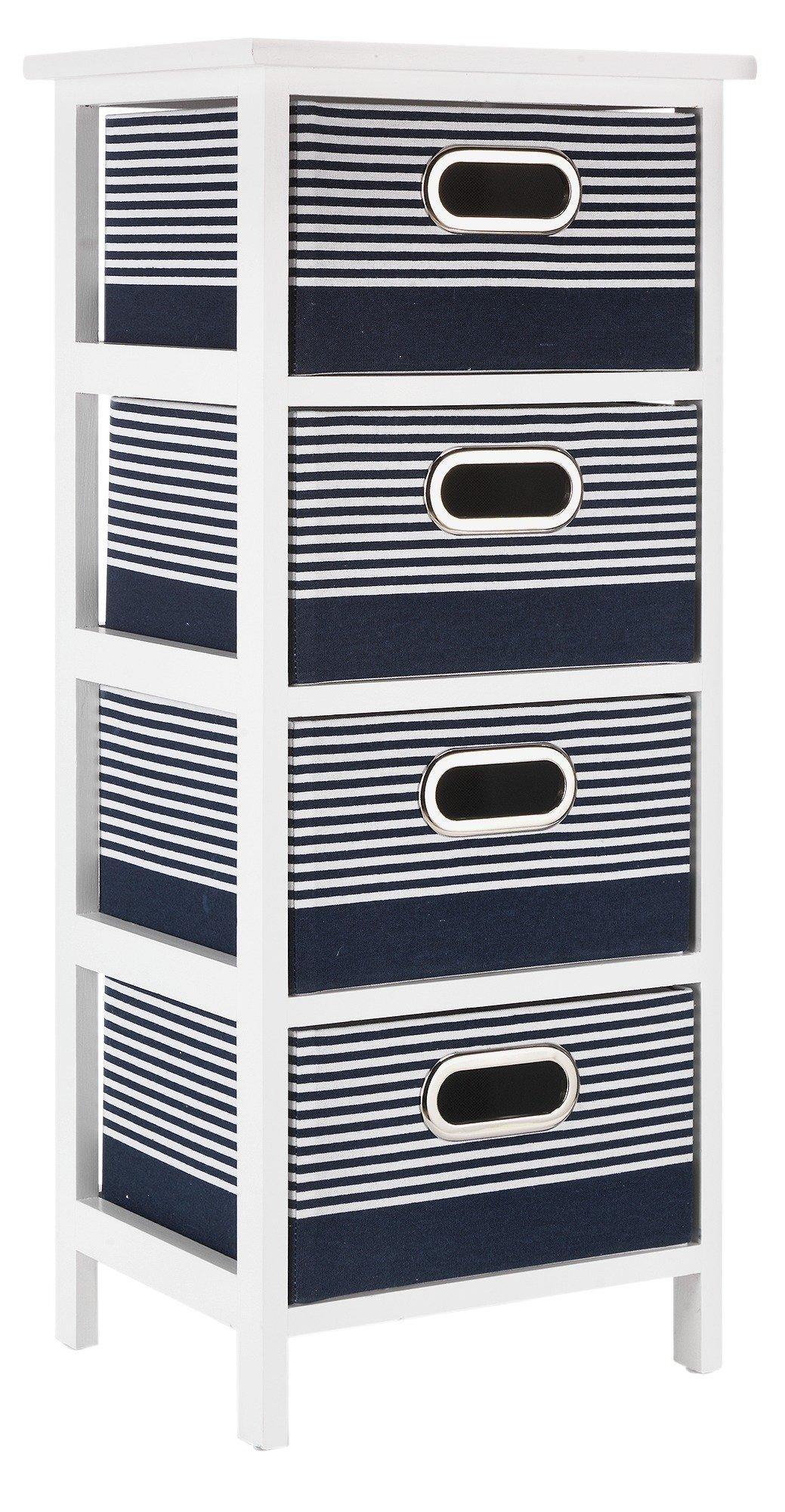 Argos Home Nautical 4 Drawer Solid Wood Storage Unit  sc 1 st  Argos & Buy Argos Home 4 Drawer Canvas Bathroom Storage Units - Grey ...