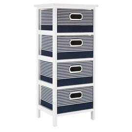 Argos Home Nautical 4 Drawer Solid Wood Storage Unit
