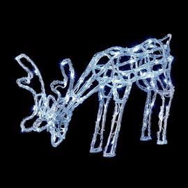 Premier Decorations Acrylic Grazing Reindeer LED - White