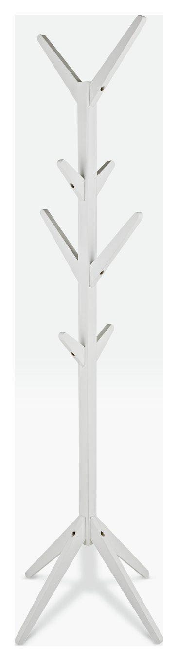 HOME Coat Tree - White  sc 1 st  Argos & Results for wooden coat hangers