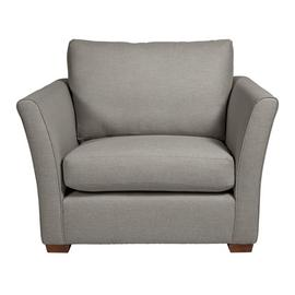Argos Home Dawson Fabric Cuddle Chair - Grey