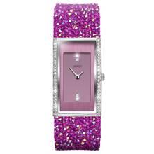 Seksy by Sekonda Ladies Pink Crystal Leather Strap Watch