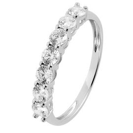Revere 9ct White Gold Claw Cubic Zirconia Eternity Ring