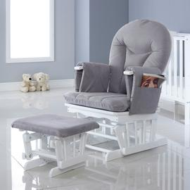 Ickle Bubba Alford Reclining Glider Chair and Stool - Grey