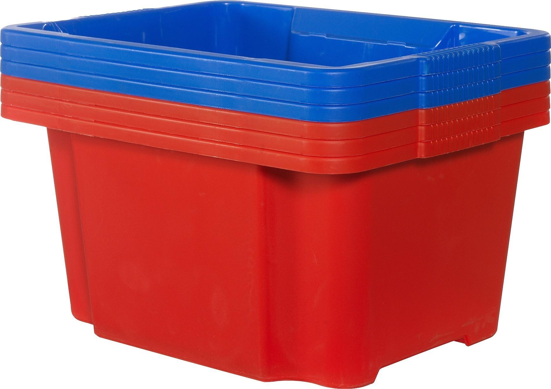 Argos Home Set Of 6 Plastic Stack U0026 Nest Boxes