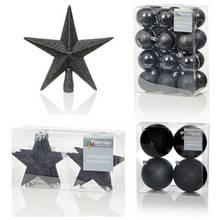 Premier Decorations 35 Piece Luxury Decorations Set - Black