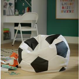 Argos Home XL Faux Leather Black & White Football Bean Bag