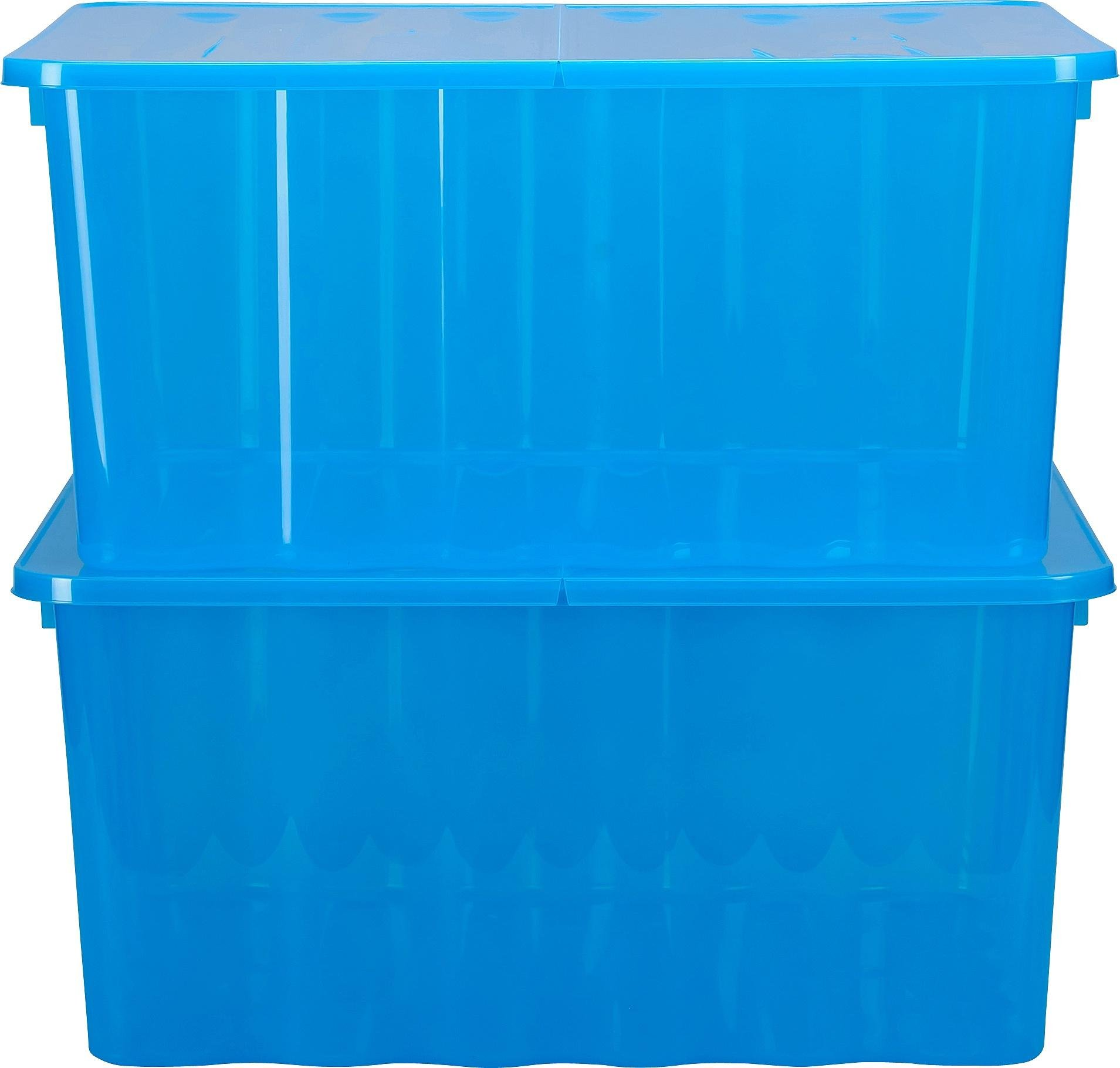 Buy Argos Home Pair of Plastic Storage Boxes - Blue | Plastic storage boxes and units | Argos & Buy Argos Home Pair of Plastic Storage Boxes - Blue | Plastic ...