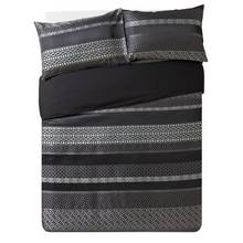 Collection Geometric Black Jacquard Bedding Set - Kingsize