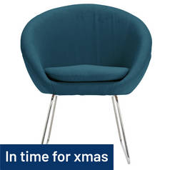 Hygena Fabric Pod Chair - Navy