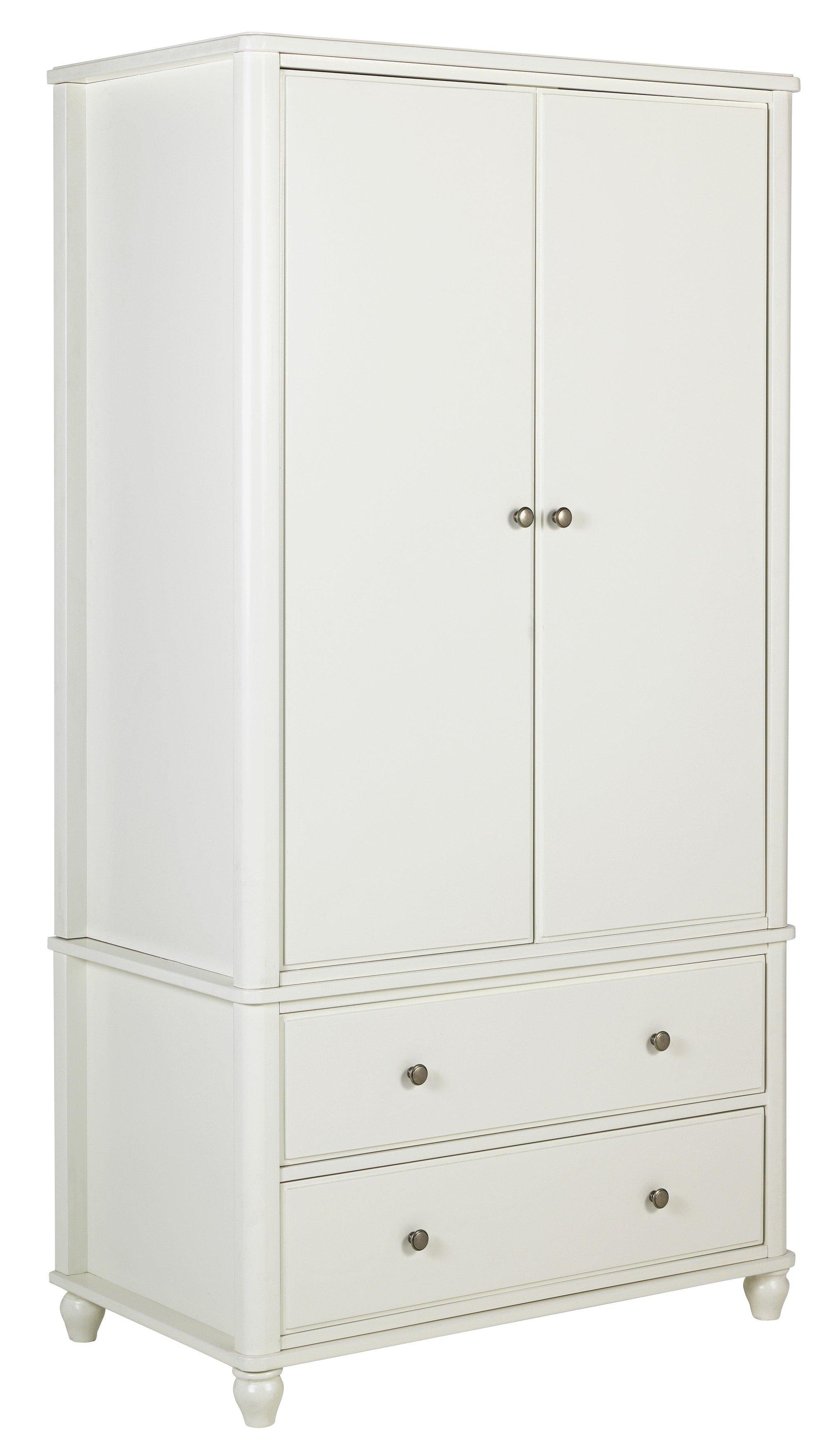 Argos Home Ashbourne 2 Door 2 Drawer Wardrobe   Ivory
