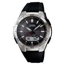 Casio Men's Waveceptor Radio Controlled Black Strap Watch