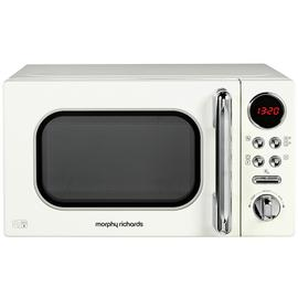 Morphy Richards Evoke Cream Microwave 20L Solo 800w 511501