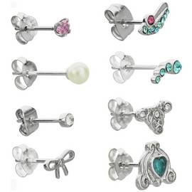 b5444abc5 Disney Cinderella Cubic Zirconia Set of 8 Stud Earrings
