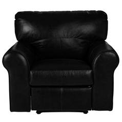 Argos Home Salisbury Leather Manual Recliner Chair - Black