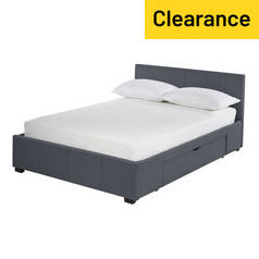Argos Home Lavendon Grey 2 Drawer Double Bed Frame