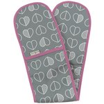 more details on Beau and Elliot Confetti Outline Oven Gloves - Slate.