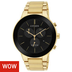 5e4bbb3a967 Citizen Eco-Drive Axiom Gold Coloured Chrono Men s Watch
