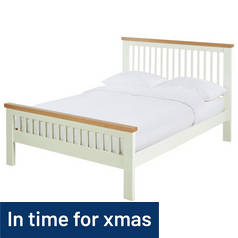 Argos Home Aubrey Kingsize Bed Frame - Two Tone