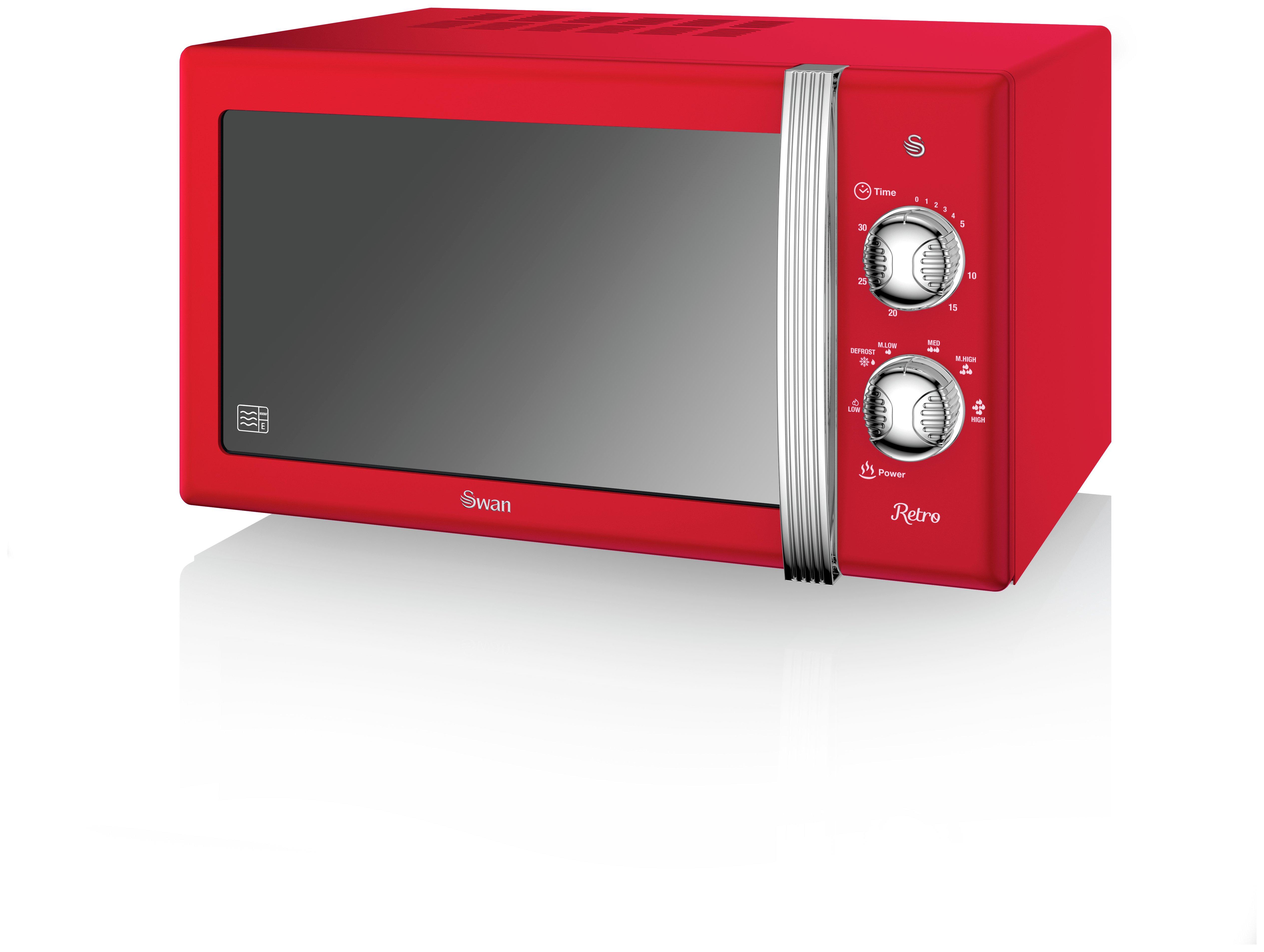 sharp 900w standard microwave r372km black. swan 800w standard microwave sm22130rn - red sharp 900w r372km black