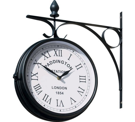 Buy Paddington Outdoor Garden Clock At Argos.co.uk   Your Online Shop For Garden  Clocks, Garden Ornaments And Accessories, Garden Decoration And Landscaping  ...