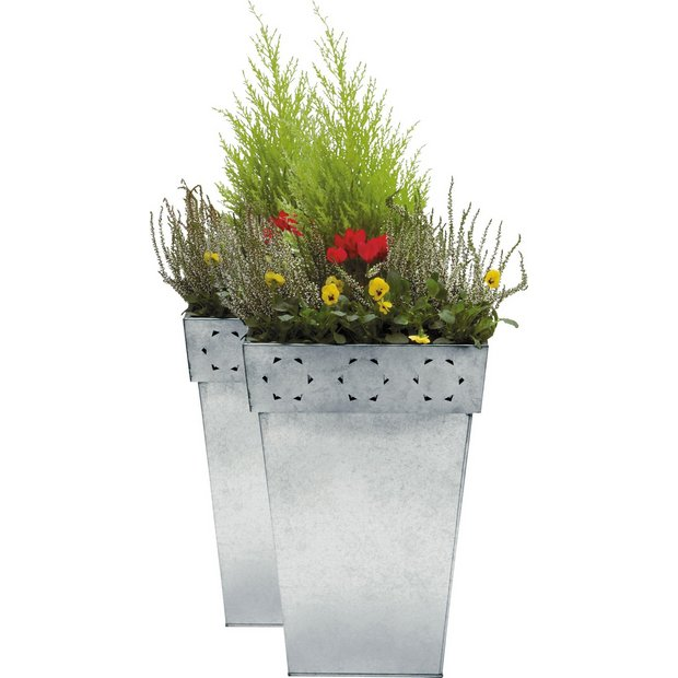 Unusual Buy Planters At Argoscouk  Your Online Shop For Home And Garden With Exquisite  More Details On Zinc Patterned Planters  Twin Pack With Comely Garden Sheds Bq Also Garden Slab Ideas In Addition Kew Botanic Gardens And Lei Garden Hong Kong As Well As Free Gardens In London Additionally Garden Pergola Uk From Argoscouk With   Exquisite Buy Planters At Argoscouk  Your Online Shop For Home And Garden With Comely  More Details On Zinc Patterned Planters  Twin Pack And Unusual Garden Sheds Bq Also Garden Slab Ideas In Addition Kew Botanic Gardens From Argoscouk