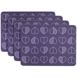 more details on Beau and Elliot Outline Set of 4 Placemats - Midnight.