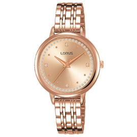 Lorus Ladies Rose Gold Coloured Bracelet Watch