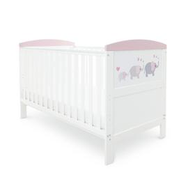 Babyhoot Coleby Style Cot Bed - Love Elephant Pink