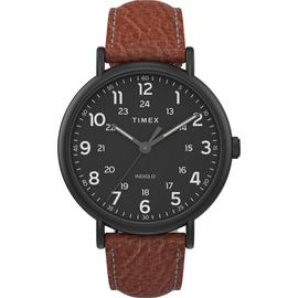 Timex Men's Tan Leather Strap Watch