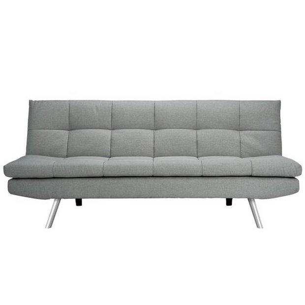 Pleasant Buy Argos Home Nolan 3 Seater Fabric Sofa Bed Light Grey Sofa Beds Argos Home Remodeling Inspirations Gresiscottssportslandcom