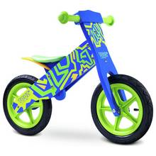Toyz Zap Wooden Balance Bike - Green/ Blue