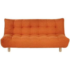Habitat Kota 3 Seater Fabric Sofa Bed - Orange