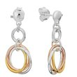 more details on Revere Italian Sterling Silver 3 Tone Russian Ring Earrings