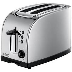 Russell Hobbs 18096 Texas Wide Slot 2 Slice Toaster - Steel
